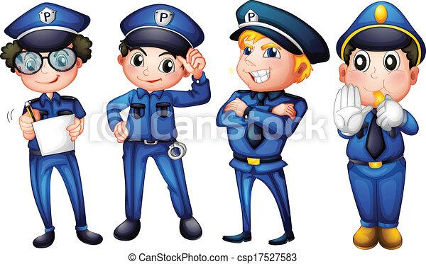 vier, polizisten - csp17527583
