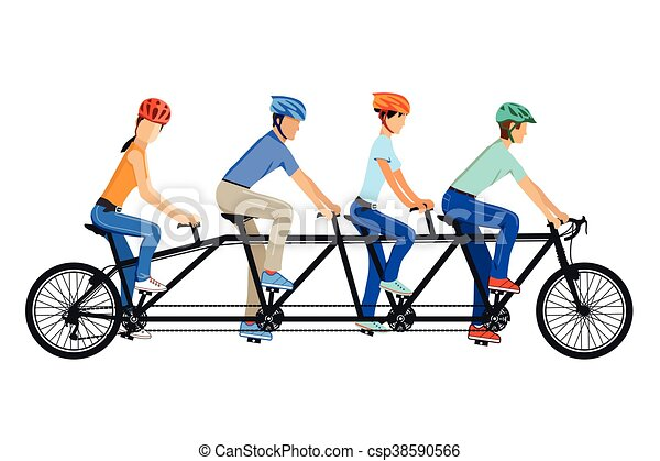 vierer tandem eps cycling tandem bicycle rh canstockphoto com tandem bicycle clipart tandem bike clipart free