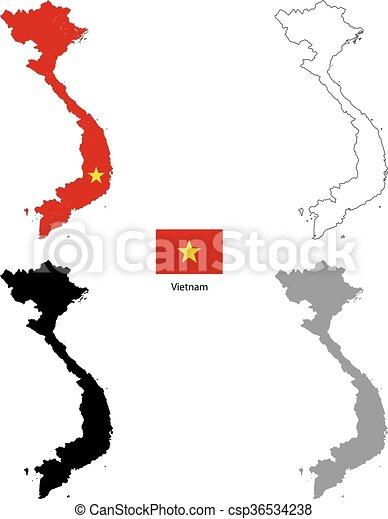Vietnam Map Silhouette