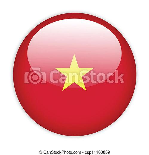 Vietnam flag button - csp11160859