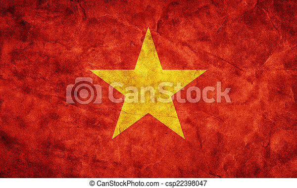 Vietnam grunge flag. Item from my vintage, retro flags collection - csp22398047
