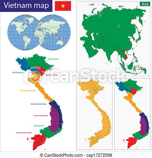 Vietnam map - csp17272599