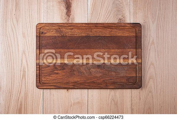 vieux, bois, planche découper, table, vide, cuisine - csp66224473