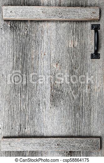 vieux, bois, porte, grange - csp58864175