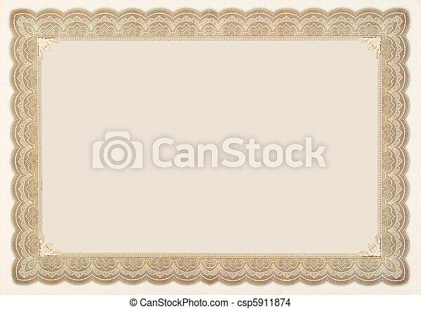 vieux, certificat, vendange, pensionnaire, vide, stockage - csp5911874