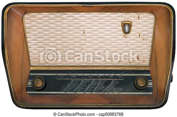 vieux, coupure, radio - csp50883768