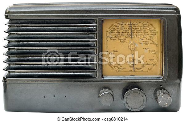vieux, coupure, radio - csp6810214