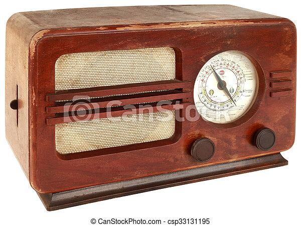 vieux, coupure, radio - csp33131195