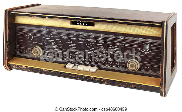 vieux, coupure, radio - csp48600439