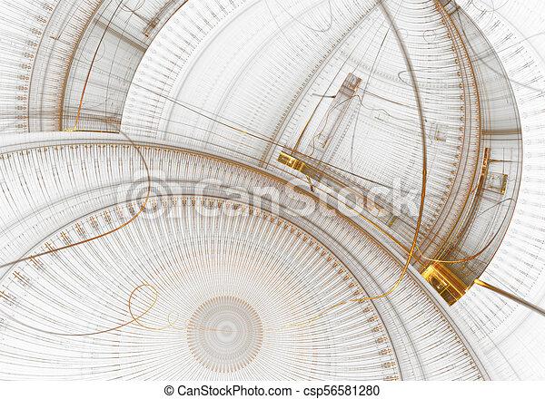 vieux, engrenage, horloge, métal, mécanisme, roues - csp56581280