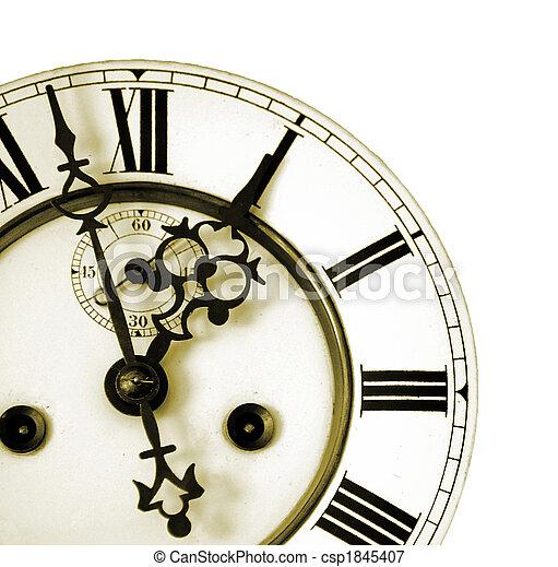 vieux, horloge, détail - csp1845407