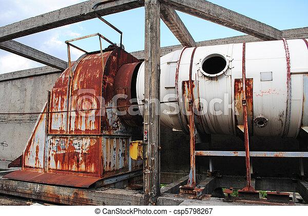 vieux, industriel, ventilation - csp5798267