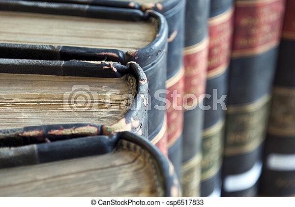vieux, légal, livres, closeup, /, droit & loi - csp6517833