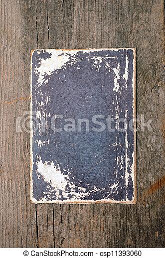 vieux, papiers, table bois - csp11393060