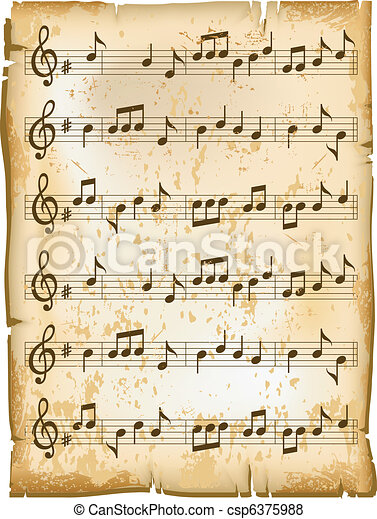 Vieux partition vecteur naturel texture papier musique illustration feuille vieux motifs - Feuille de musique a imprimer ...