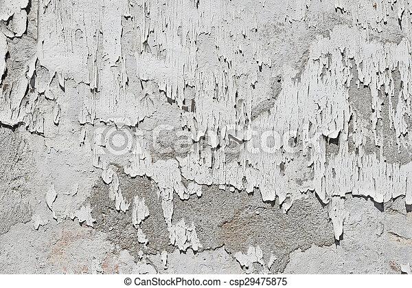 Vieux Peinture Mur Vendange Sur Gris Béton Flocons Blanc