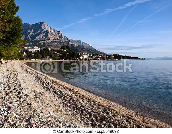 View at small town in Dalmatia - csp5549092