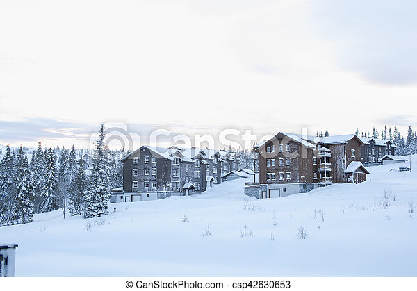 View from a skiing resort - csp42630653