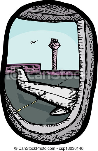 airplane window view clipart