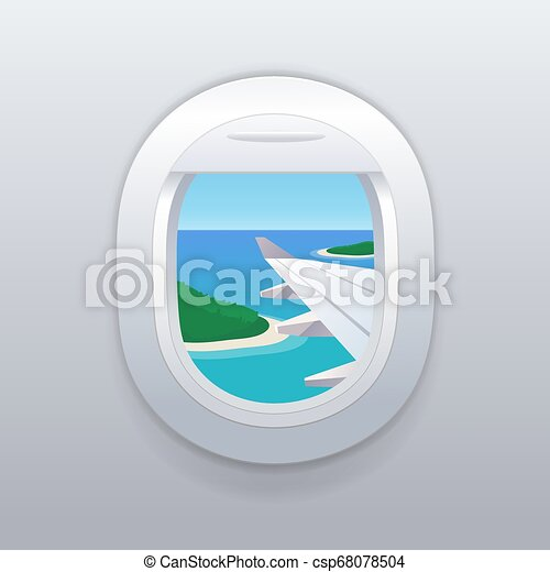 View From Airplane Window Vacation Destinations Tropical Beach