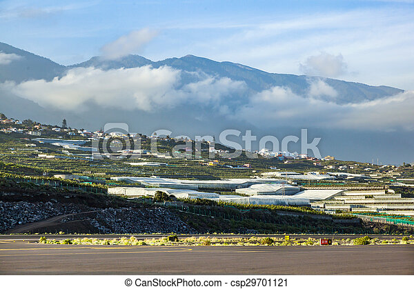 view from airport La Palma to the hills - csp29701121