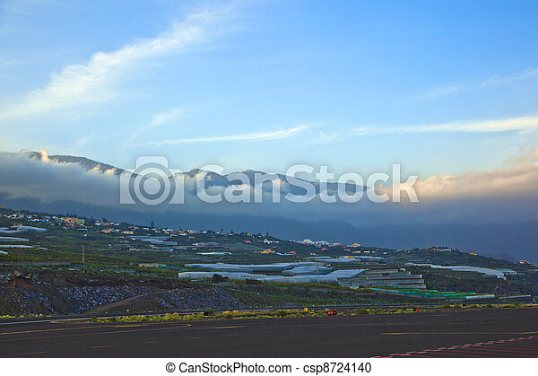 view from airport La Palma to the hills - csp8724140