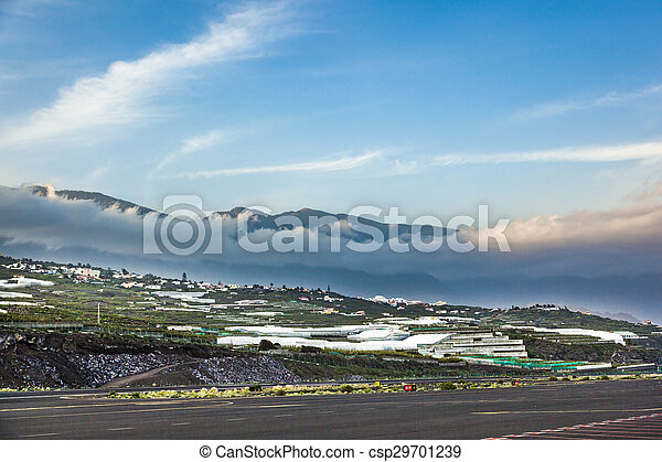 view from airport La Palma to the hills - csp29701239