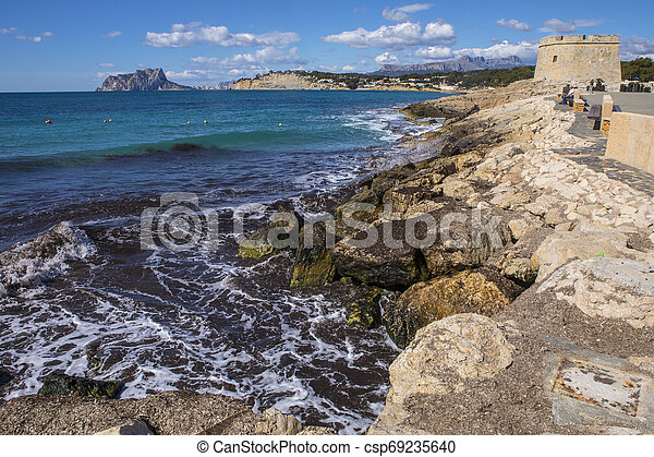View from Moraira in Spain - csp69235640