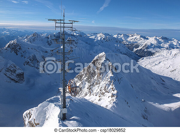View from the top of the Valluga mountain - csp18029852
