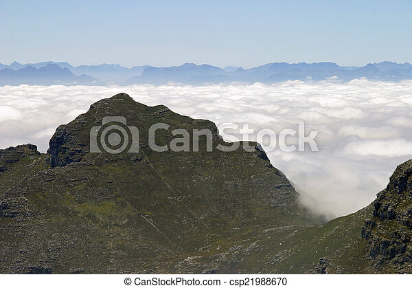 View from top of Table Mountain in Cape Town, South Africa - csp21988670