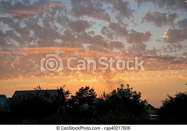 View of a Beautiful Sunset Sky - csp40217606