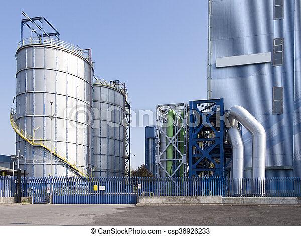 view of a modern factory - csp38926233