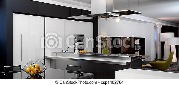 View of a modern kitchen - csp1482764