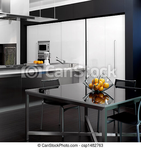 View of a modern kitchen - csp1482763