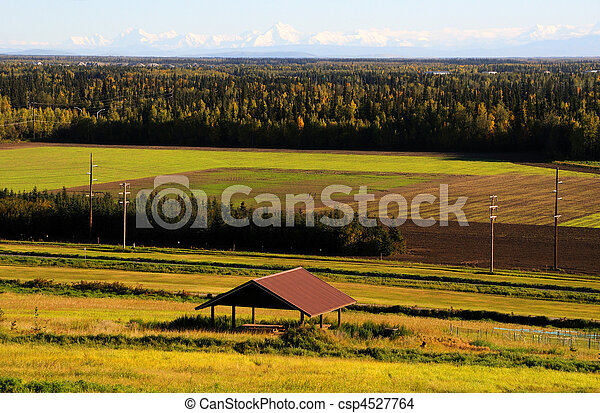 View of Alaska Range in the Fall from Fairbanks - csp4527764
