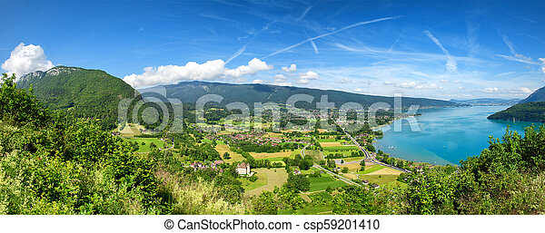 view of Annecy lake in french Alps - csp59201410