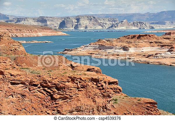 View of Antelope Island - Lake Powell - csp4539376