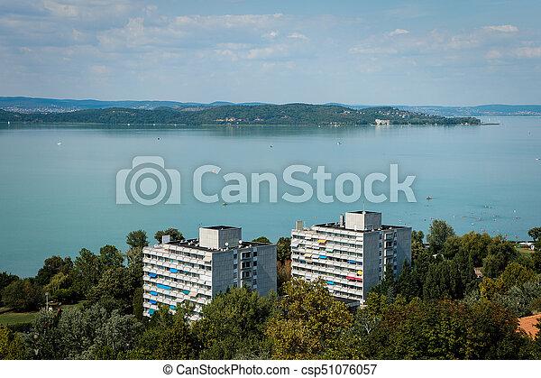 View of Balaton Lake in Hungary - csp51076057