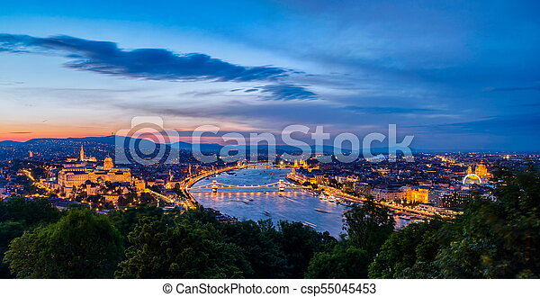 View of Budapest in Hungary - csp55045453