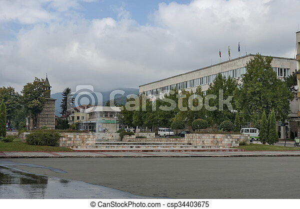 View of center in the small town - csp34403675