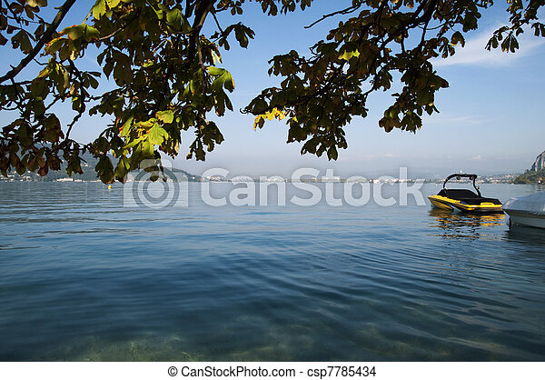 View of City of Annecy from the lake - csp7785434