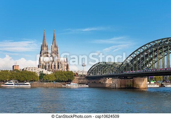 View of Cologne over the Rhein - csp10624509