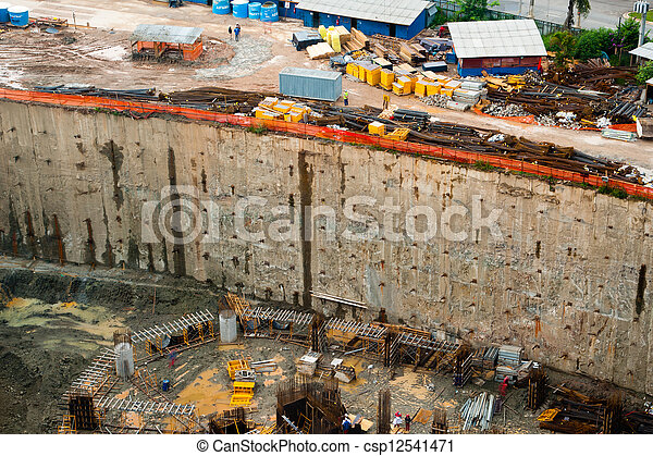 View of construction site - csp12541471