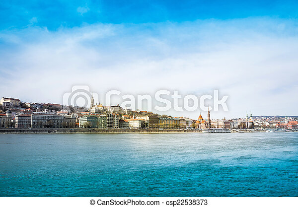 view of historic architectural in Budapest - csp22538373