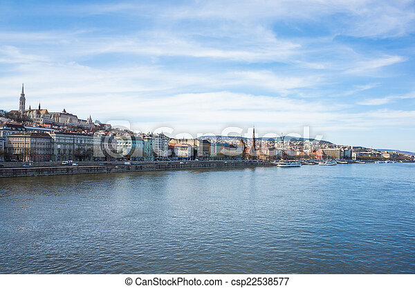 view of historic architectural in Budapest - csp22538577