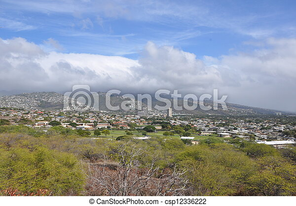 View of Honolulu - csp12336222