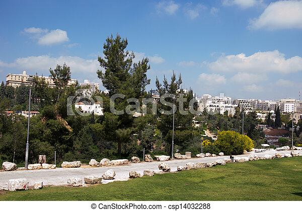 View of Jerusalem city - csp14032288