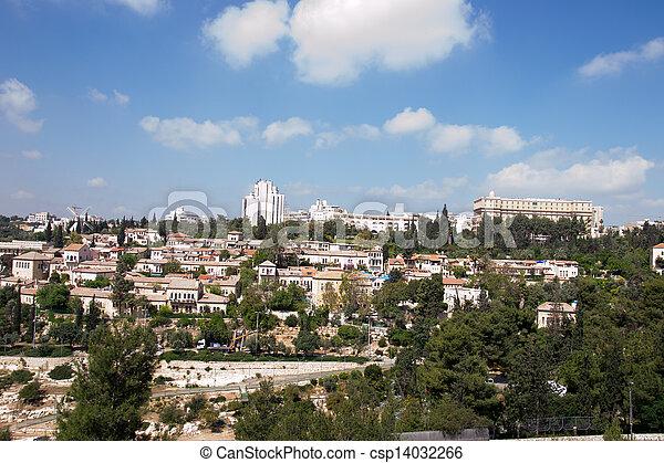 View of Jerusalem city - csp14032266
