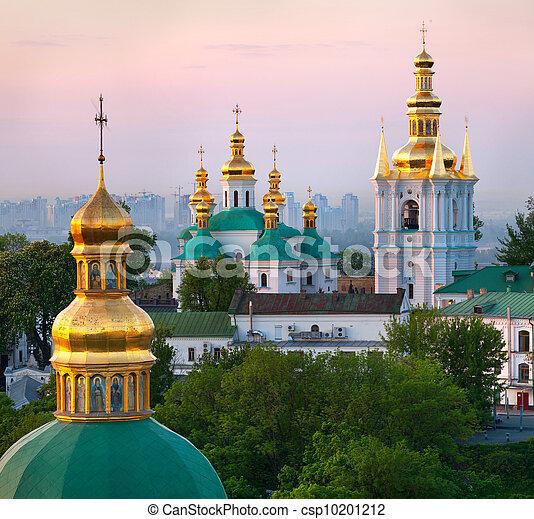 View of Kiev Pechersk Lavra Orthodox Monastery, Ukraine - csp10201212