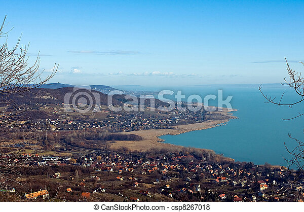 View of lake Balaton in wintertime - csp8267018